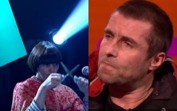 Liam Gallagher managed to beat his brother Noel in the weirdest musical instrument competition