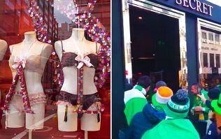 WATCH: Hilarious Ireland fans cheer customers exiting Victoria's Secret in Copenhagen