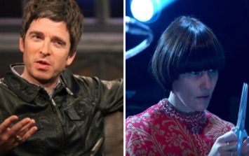 Noel Gallagher has finally explained why that lady was playing the scissors on stage