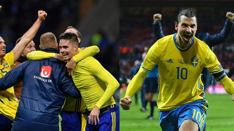 Zlatan Ibrahimovic's reaction to Sweden's qualification has people thinking he's set for a return