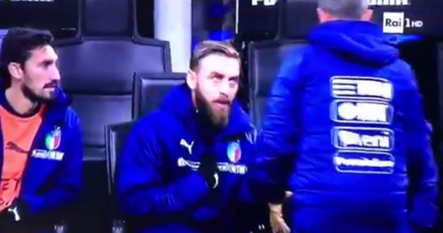 Supporters loved what Daniele De Rossi did when told to warm up by Italy coach