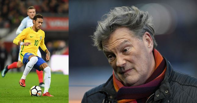 Forget Neymar, Glenn Hoddle is the talk of Twitter during the first half of England vs Brazil