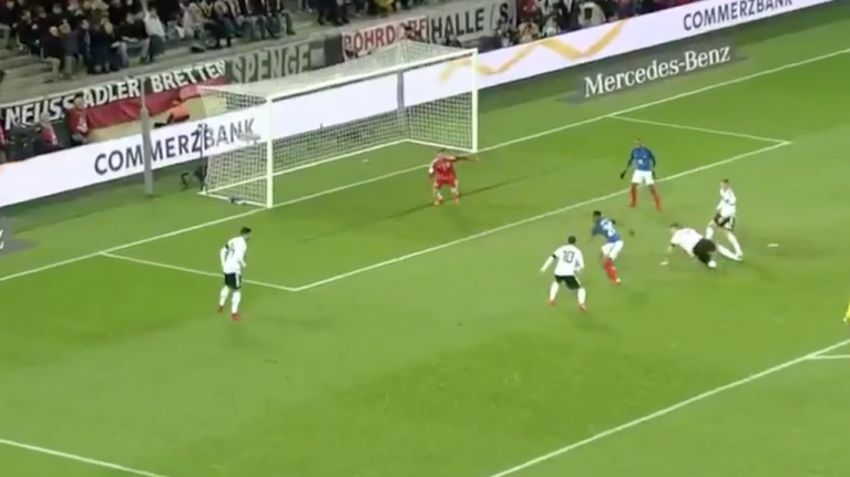 WATCH: Anthony Martial rips German defence apart to lay on Alexandre Lacazette goal