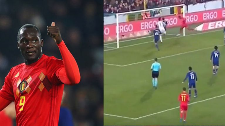 WATCH: Romelu Lukaku's record-breaking goal clinches victory for Belgium