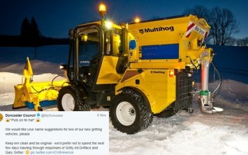 Doncaster Council ask the public to name their new gritter, you know what happens next