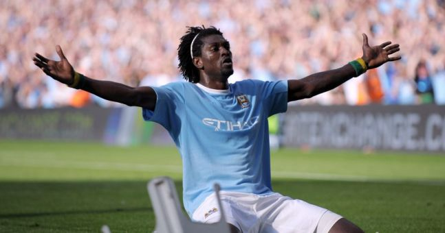 Emmanuel Adebayor has explained why he did *that* celebration in front of the Arsenal fans