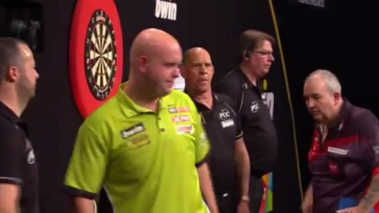 """Michael van Gerwen called Phil Taylor """"a knob"""" after beating him in semi-final"""