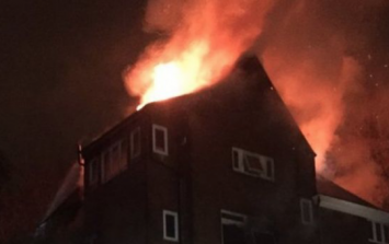 One confirmed dead in fire at block of flats in north London