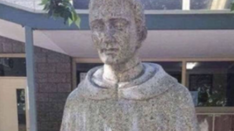 School forced to cover up 'holy nonce' statue due to unfortunate design
