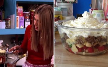 Here come the meat sweats! Friends fans have actually made Rachel's Thanksgiving trifle