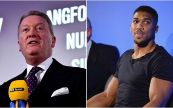 Frank Warren surprised by reaction to racist message from Anthony Joshua's account