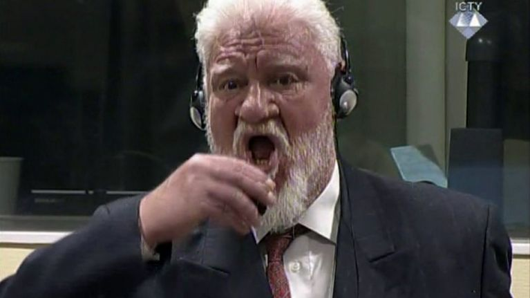 War crimes defendant drinks poison during Hague trial moments after UN uphold their conviction