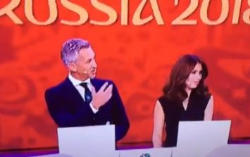 Gary Lineker couldn't resist a joke about Diego Maradona and Italy at the World Cup draw