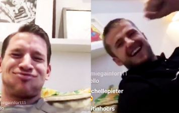 WATCH: Tottenham's Jan Vertonghen and Eric Dier react to news they'll face each other at the World Cup
