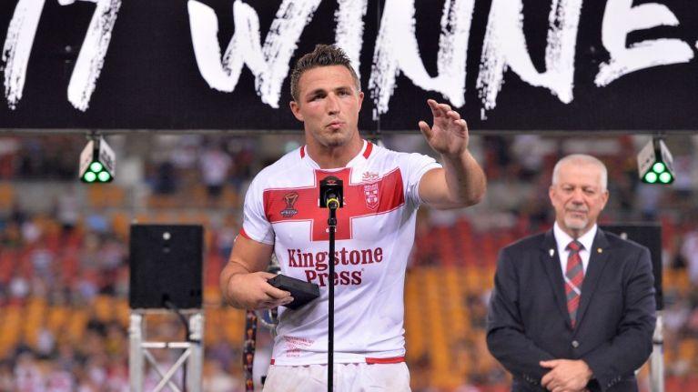 WATCH: England captain Sam Burgess gives emotional speech after World Cup final defeat