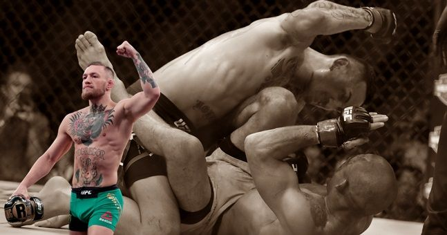 Conor McGregor reacts to Max Holloway's pasting of Jose Aldo