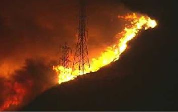 100,000 people in LA expected to be evacuated as they are in the path of a massive wildfire
