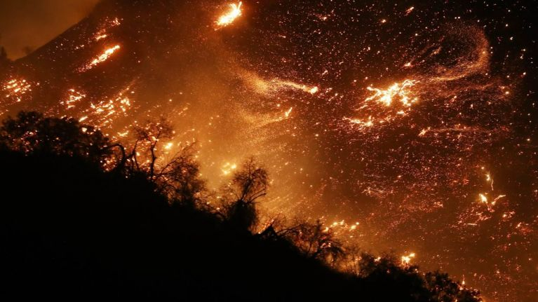 Los Angeles declares state of emergency as wildfire blazes towards UCLA and Getty Centre