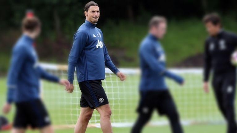 Zlatan Ibrahimovic left the Manchester United kit men shaking when he first met them