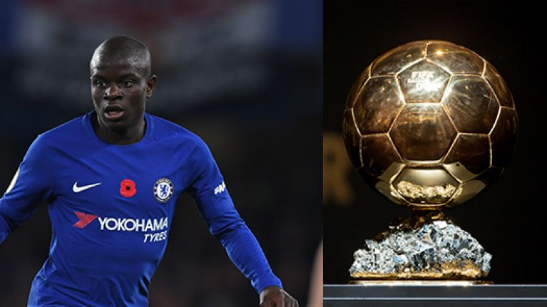 N'Golo Kante is the highest ranked Premier League player in this year's Ballon d'Or