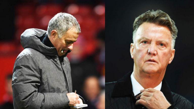 Louis Van Gaal Sticks The Knife In After Jose Mourinho's