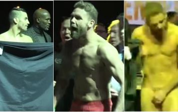 It almost all kicked off at Billy Joe Saunders' weigh-in