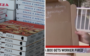 Pizza delivery driver fired for writing offensive joke in pizza box