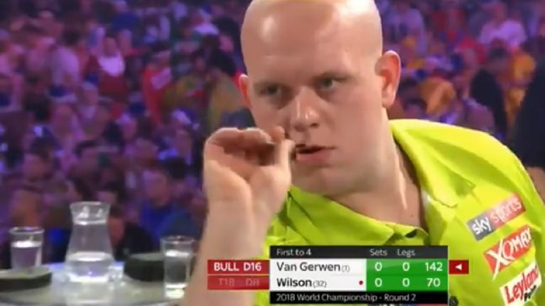Michael van Gerwen is just stupidly good at darts