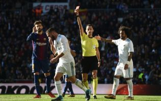 Dani Carvajal sees red after taking a leaf out of Luis Suarez's book in El Clásico