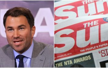 Eddie Hearn pulls boxer from fight after comments about The Sun newspaper