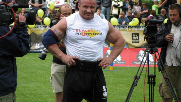Former Worlds Strongest Man Looking Super Lean As A Cage Fighter