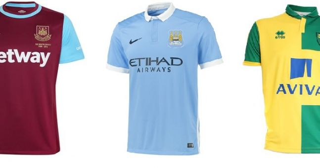 Gallery: Premier League home kits 2015/16
