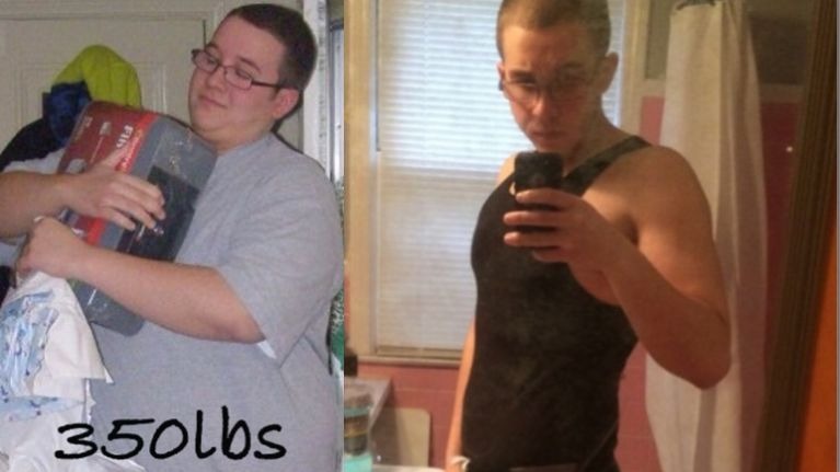 Amazing body transformation of 26-stone man from obese to US Marine (Photos)