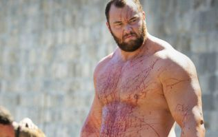 Game of Thrones star Hafthor Bjornsson shows his strength