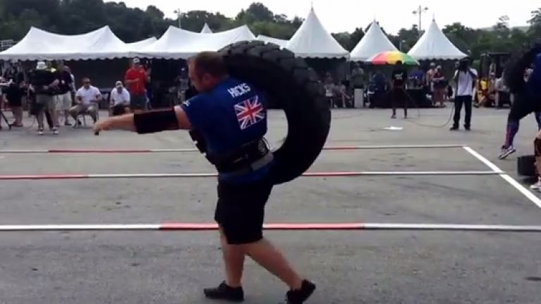 Graham Hicks Drops 160kg Weight On His Foot At Worlds Strongest Man