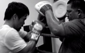 Video: Manny Pacquiao proves his steely inner strength in training