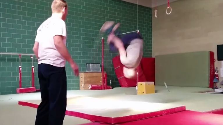 Video: Former UFC champion Georges St-Pierre's gymnastic training is insane