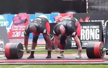 British strongmen break the two-man world deadlift record...twice