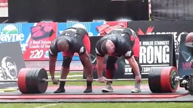 British strongmen break the two-man world deadlift record   twice