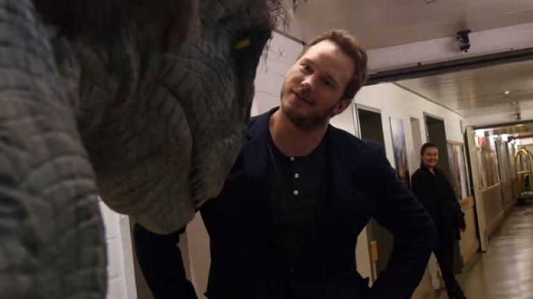 Jurassic World Star Chris Pratt Caught Out By Dinosaur Prank Video