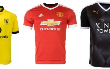 Premier League home & away kits 2015/16 (gallery)