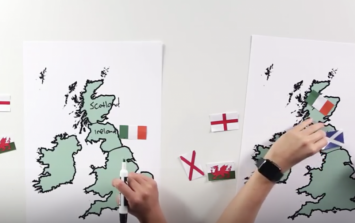 Americans try and find England, Ireland and Scotland on a map, most fail