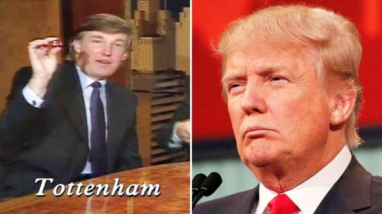 That time Donald Trump took part in the League Cup draw with Saint and Greavsie