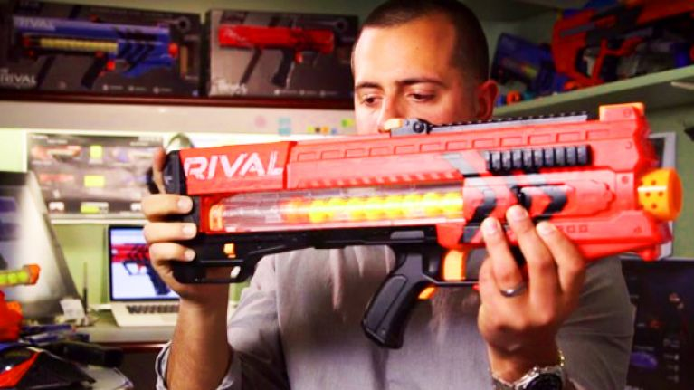 Nerf guns grow up with these motorised badboys (Video)