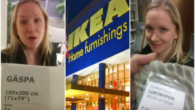 Bored boyfriend makes Ikea trip bearable with these brilliant puns (Video)