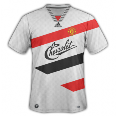 A very retro Man United effort - like something straight out of an 80s movie