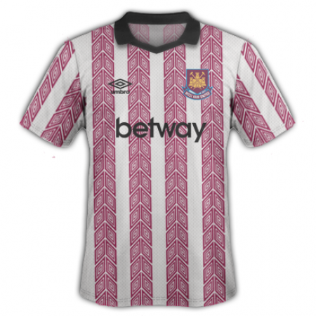 West Ham's colour-schemes used to be much more...creative