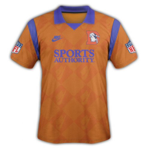 If the NFL made Premier League-style shirts