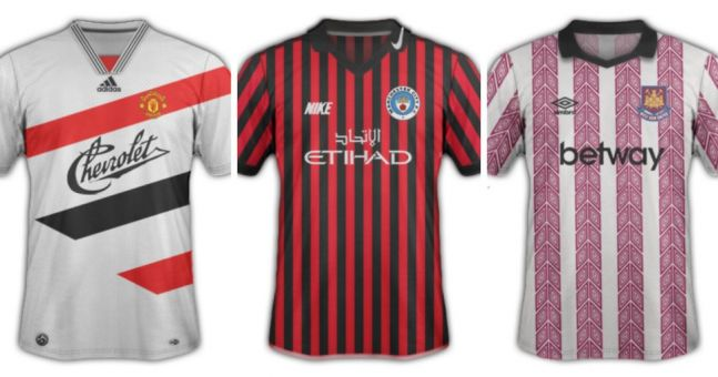 Innovative kit blog gives current home shirts a cheesy 90s revamp (Gallery)