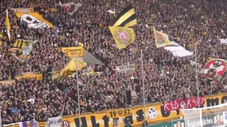 Dynamo Dresden are in Germany's Division 3, but just look at their incredible following (Video)